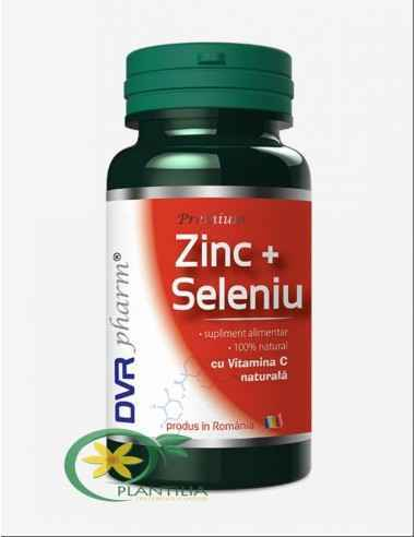 Zinc + Seleniu cu Vitamina C 120 capsule DVR Pharm Împreună, aceste oligoelemente sunt printre cele mai puternice imunostimulen