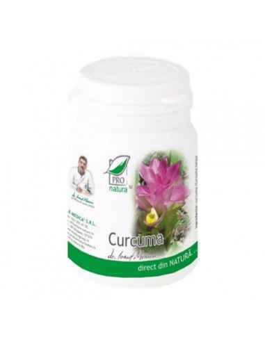 Curcuma 150 capsule Pro Natura, Curcuma 150 capsule Pro Natura Curcuma cunoscuta si sub numele de turmeric, sprijina functiile d