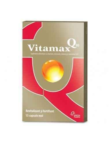Vitamax Q10 15 capsule APIC VITAMAX Q10 este un produs destinat pastrarii unui tonus fizic si psihic ridicat, pentru cat mai mul