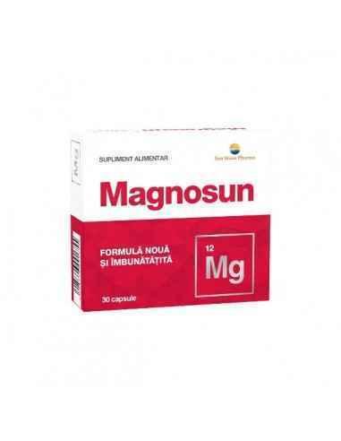 Magnosun 30 capsule Sun Wave Pharma Corectează eficient deficitul de Magneziu.