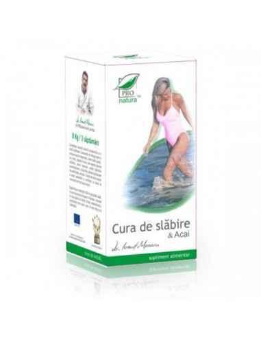 Cura de Slabire & Acai 210 capsule Pro Natura, Cura de Slabire & Acai 210 capsule Pro Natura Reduce pofta de mancare, cresca