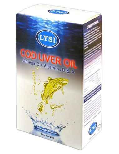 Cod Liver Oil  80 cps  Lysi, Ulei din ficat de cod 80cps Lysi Descoperiti secretul vitalitatii si longevitatii cu uleiul de pest