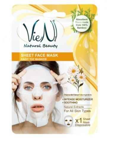 Masca faciala tip servetel cu musetel 25 gr Vien Diminuarea productiei de colagen a pielii si reducerea capacitatii de reinnoir
