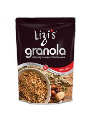 "GRANOLA LIZI'S ORIGINAL 500g Celebrul Maestru Culinar Raymond Blanc degustand Lizi`s Granola a afirmat: ""Gustul este uimitor"" –E"