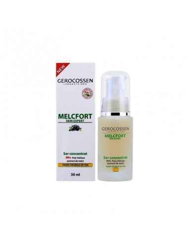 "Ser Concentrat Antirid MELCFORT 30ml Formula ce contine 90% Poly-Hexilan, ingredient natural extras din secretia melcului ""Helix"