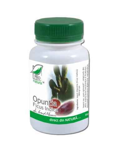 Opuntia Ficus Indica 60 capsule Pro Natura Opuntia este o specie de cactus indian care, conform studiilor clinice efectuate:-sca