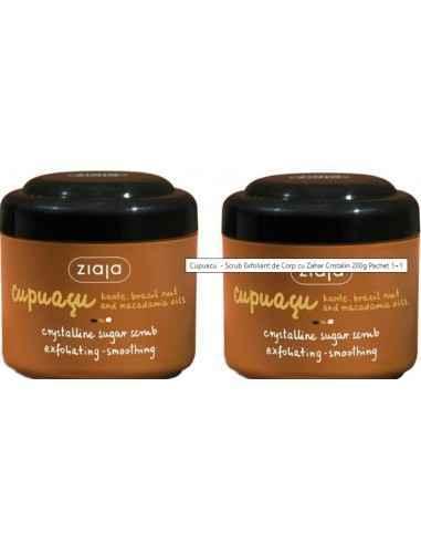 Oferta Cupuacu - Scrub exfoliant pentru corp 1+1 ZIAJA Formează film protector pe piele și oferă un miros plăcut, cald, care st