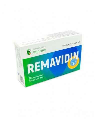 REMAVIDIN 30CPR Remedia REMAVIDIN conține nutrienți cu efecte benefice asupra sistemelor imunitar, cardiovascular și nervos.