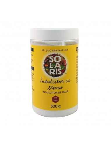 INDULCITOR CU STEVIA 300gr Solaris Eritritolul este un înlocuitor pentru zahăr care are aspectul și gustul similare cu cele al