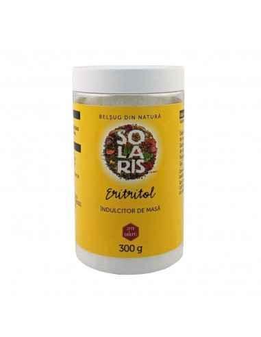 ERITRITOL 300gr Solaris Eritritolul este un înlocuitor pentru zahăr care are aspectul și gustul similare cu cele ale zahărului