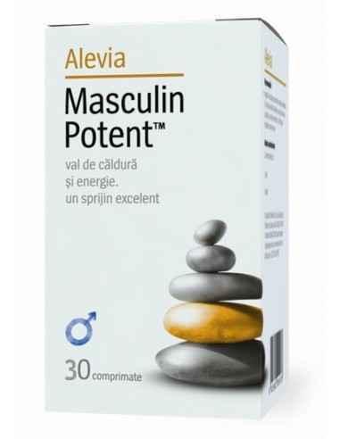 Masculin Potent 30 comprimate Alevia Stimulează potența masculină.