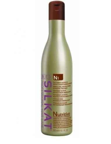 SAMPON SILKAT NUTRITIV 300ML BES Romania Sampon Nutritiv Silkat Bes, 300 ml: sampon nutritiv ideal pentru parul deteriorat, usc