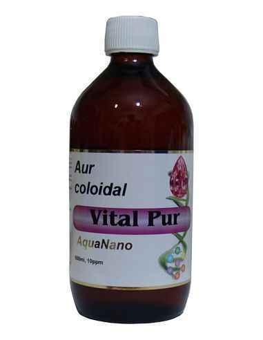 Aur Coloidal Vital Pur 10 ppm 500ml Aghoras