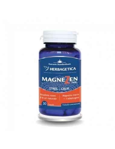MAGNEZEN 30 CPS Herbagetica Crește capacitatea de adaptare a organismului la stres. Complex natural antistres. Efect adaptogen.