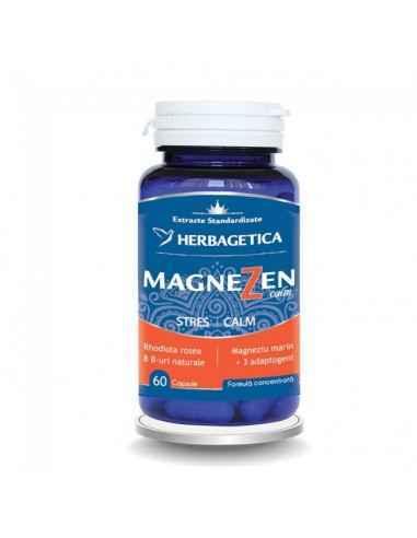 MAGNEZEN 60 CPS Herbagetica Crește capacitatea de adaptare a organismului la stres. Complex natural antistres. Efect adaptogen.