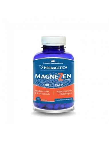 MAGNEZEN 120 CPS Herbagetica Crește capacitatea de adaptare a organismului la stres. Complex natural antistres. Efect adaptogen