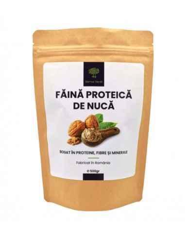 FAINA PROTEICA DE NUCA 500gr HORTUS VERDI Nuca este un aliment bogat in nutrienti care se poate incadra intr-o serie de modele