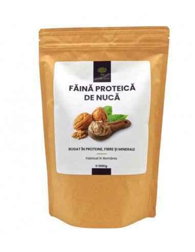 FAINA PROTEICA DE NUCA 1000gr HORTUS VERDI Nuca este un aliment bogat in nutrienti care se poate incadra intr-o serie de modele