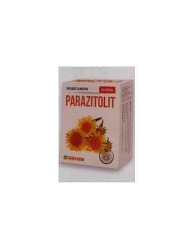 Parazitolit 30 cps Parapharm Produsul Parazitolit contine o combinatie complexa de plante, cu rol in sustinerea procesului norm