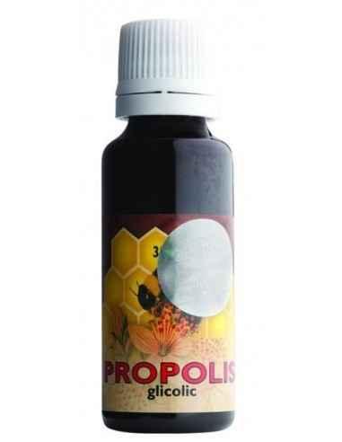 """Picaturi propolis glicolic 100 ml Parapharm Propolis înseamnă în limba greacă """"partea dinaintea cetății"""" deoarece propolisul se"""