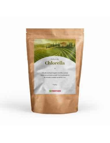 Pulbere din Chorella 250 g Parapharm Chlorella este foarte bogată în clorofilă și nutrienți. Are un conținut bogat de proteine