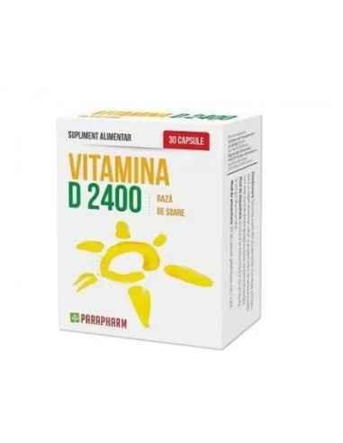Vitamina D 2400 30 cps Parapharm Mentinerea sanatatii sistemului osos.