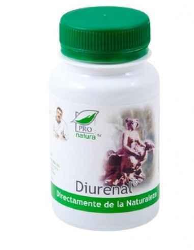 DIURENAL 60CPS Medica Este un supliment alimentar ce ajuta la reducerea apei in exces din organism pe cale renala. Sustine func