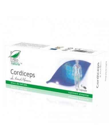 Cordiceps 30 capsule Pro Natura Remediu natural cu rol de creștere a longevității și vitalității organismului, antitumoral, chem