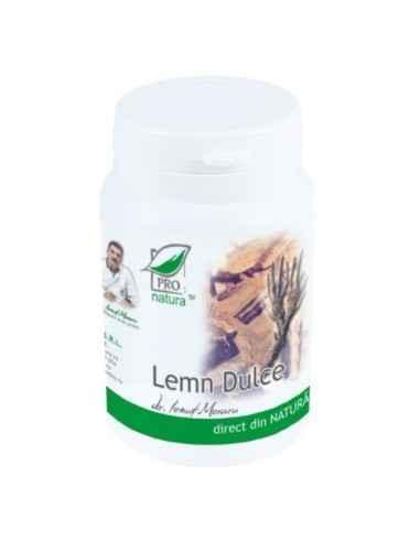 LEMN DULCE 60CPS Medica Este un supliment alimentar ce ajuta la scaderea hiperaciditatii gastrice si favorizeaza reducerea edem