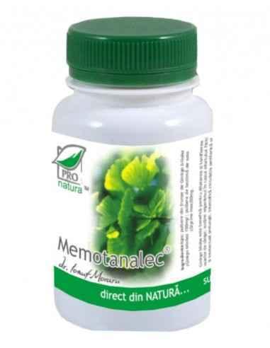 MEMOTANALEC 60CPS Medica Tulburari de concentrare si memorie , sechele AVC, sindrom vertiginos de origine ischemica, arteropati