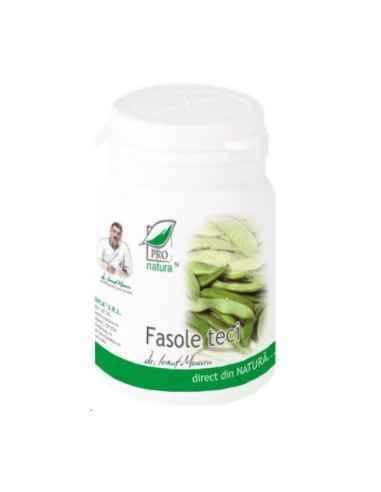TECI FASOLE 60CPS Medica Principiul activ al tecilor de fasole este hemiceluloza, care, la nivel digestiv, formeaza un compus c