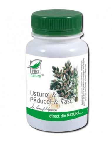 USTUROI + PADUCEL + VASC 60CPS Medica Ajuta la reglarea ritmului cardiac si la normalizarea valorilor tensiunii arteriale;