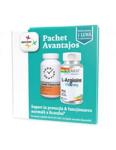 L-ARGININE 30CPR+GUARD-YOUR-LIVER 30CP PROMO Secom Good Routine Suport in protectia si functionarea normala a ficatului.
