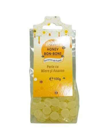 BOMBOANE MIERE&ANASON 100GR Apidava Fabricate în Franța după o rețetă tradițională, bomboanele cu miere sunt adevărate delicate