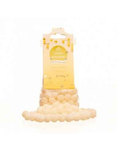BOMBOANE MIERE&EUCALIPT 100GR Apidava Fabricate în Franța după o rețetă tradițională, bomboanele cu miere sunt adevărate delica