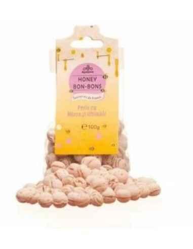 BOMBOANE MIERE&GHIMBIR 100GR Apidava Fabricate în Franța după o rețetă tradițională, bomboanele cu miere sunt adevărate delicat