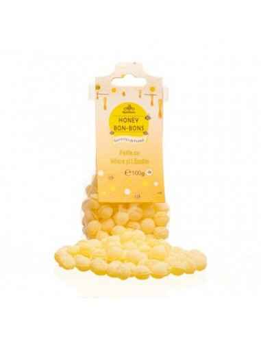 BOMBOANE MIERE&LAMAIE 100GR Apidava Fabricate în Franța după o rețetă tradițională, bomboanele cu miere sunt adevărate delicate