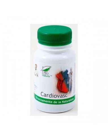 Cardiovasc 60 capsule Pro Natura, Cardiovasc 60 capsule Pro Natura  Benefic pentru bolnavii de inimaPoate preveni bolile cardiov