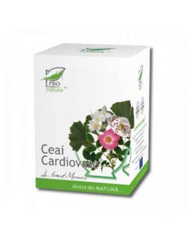 Ceai Cardiovasc 20 doze Pro Natura, Ceai Cardiovasc 20 doze Pro NaturaBenefic pentru bolnavii de inimaPoate preveni bolile car