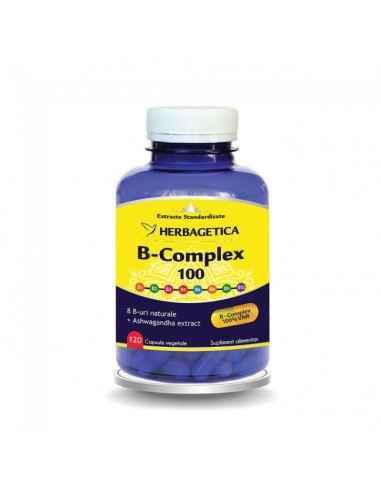 B-complex 100 120 cps Herbagetica Favorizează asimilarea calciului şi vitaminizarea organismului cu vitaminele B (B1, B2, B3, B