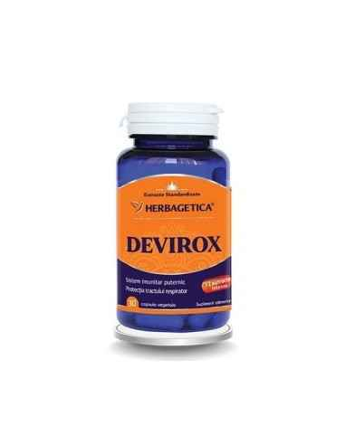 DEVIROX 30 cps Herbagetica Devirox are o formula unica si complexa cu 12 extracte naturale intense, vitamine și minerale organi