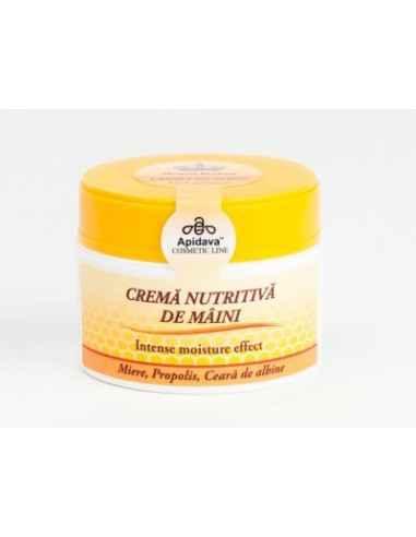CREMA NUTRITIVA DE MAINI 50ML Apidava Catifelează și protejază.Crema de mâini este un tratament special conceput pe bază de in