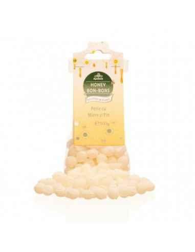 PERLE CU MIERE&PIN 100GR Apidava Fabricate în Franța după o rețetă tradițională, bomboanele cu miere sunt adevărate delicatese,