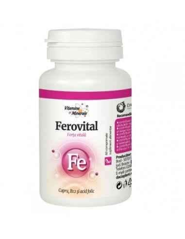 FEROVITAL 60CPR DACIA PLANT Formula complexa, 100% naturala, care contine extracte concentrate din fructe de amla si catina, dr