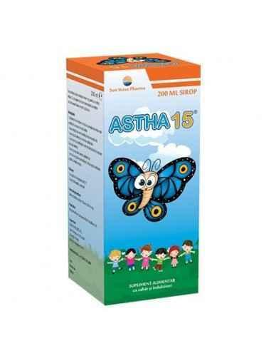 Astha 15 Sirop 200 ml Sun Wave Pharma ASTHA-15 conţine un amestec de 15 extracte de plante utilizate în medicina tradiţională i