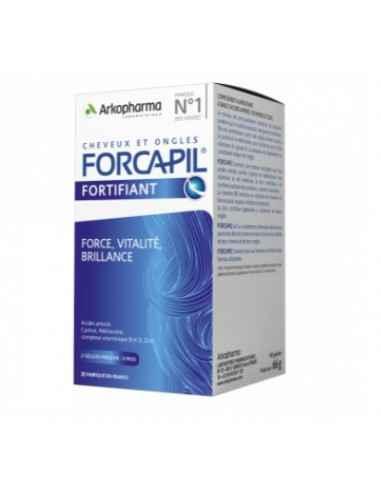 FORCAPIL 90 CPS ARKOPHARMA Părul tău este lipsit de strălucire și fără volum? Părul și unghiile tale sunt fragile? Forcapil® fo