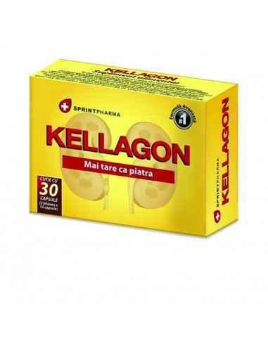 Kellagon 30 capsule SprintPharma Kellagon este soluţia oferită de Sprint Pharma pacienţilor ce suferă de litiază renală.