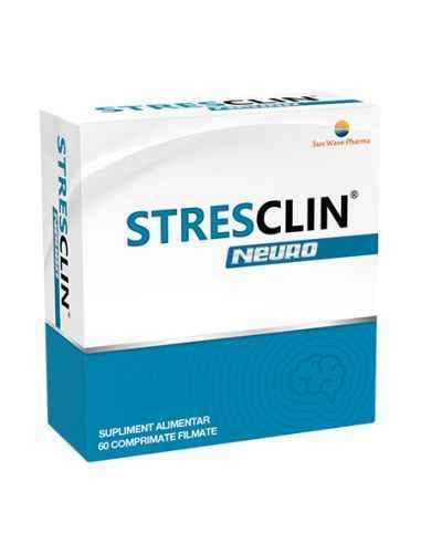 STRESCLIN NEURO 60CPR SUNWAVE PHARMA Ajută la relaxarea psihică în cazuri de stres și suprasolicitare nervoasă.