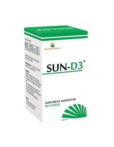 SUN D3 60CPS SUNWAVE PHARMA Menține sănătatea sistemului osos și a dinților.