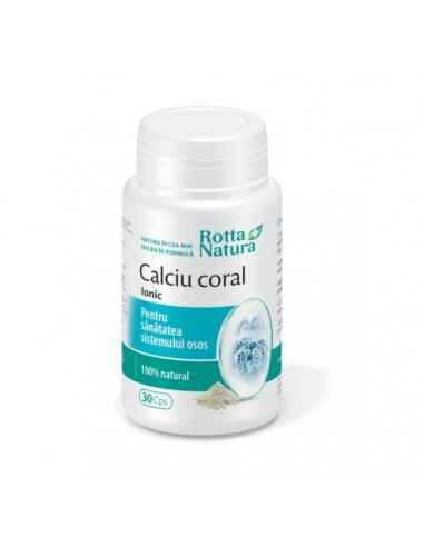 Calciu Coral Ionic 30 capsule Rotta Natura, Calciu Coral Ionic 30 capsule Rotta Natura Calciu coral reprezinta un complex de min